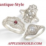 Antique-Style Gemstone Rings that Bring the Past to Life
