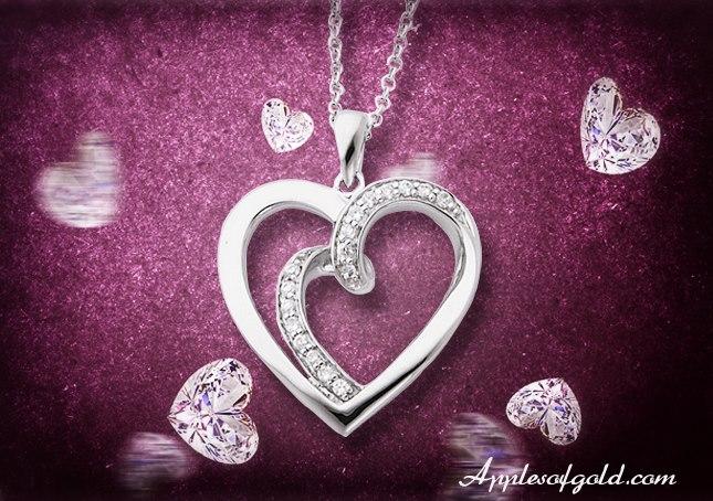 Soulmate sterling silver pendant gift idea
