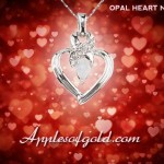 Heart Pendants with Unexpected Gemstones