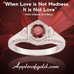 Garnet Heart Rings in Honor of St. Valentine