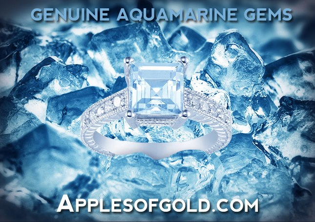 genuine aquamarine jewelry, march birthstone