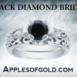 Black Diamond Rings for the Bride