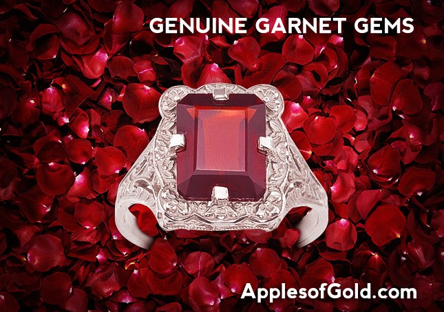 04-30-2013 Genuine Garnet Gemstone Rings
