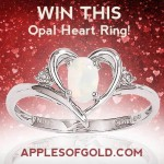 Score an Opal Heart Ring in Apples of Gold's April Sweepstakes!