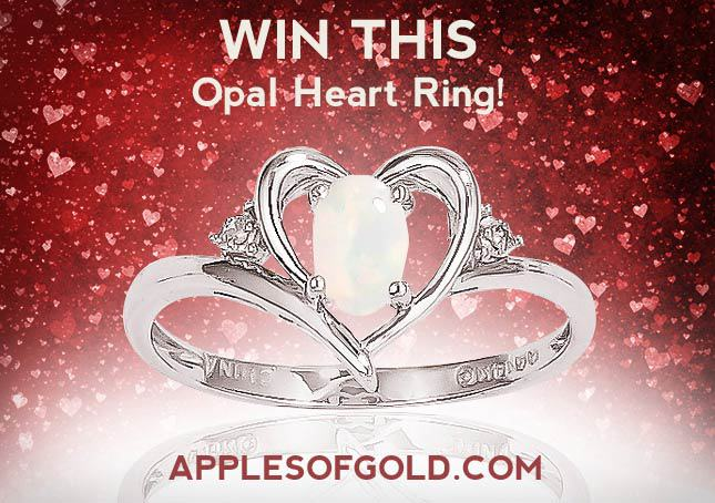 Sweepstakes - opal heart ring