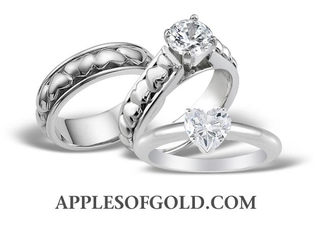 Heart Wedding Jewelry for the One Who Holds Your Heart