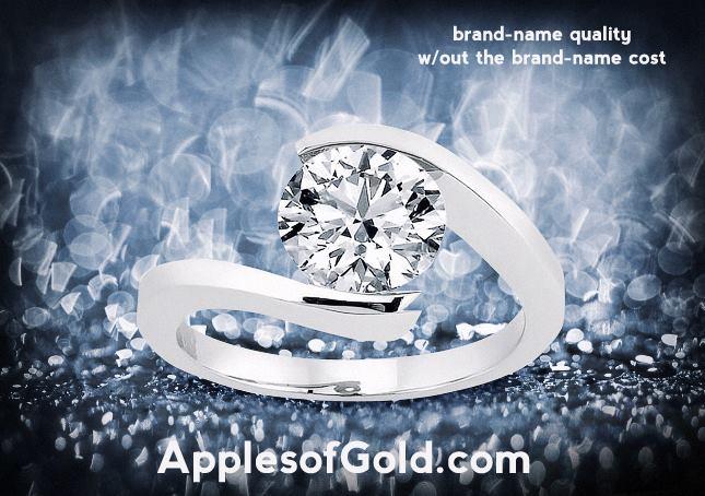 05-20-2-13 Tension-Set Rings in 14K White Gold
