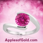 Pink Topaz Solitaire Rings: Three Ways to Wear a Single Pink Stone