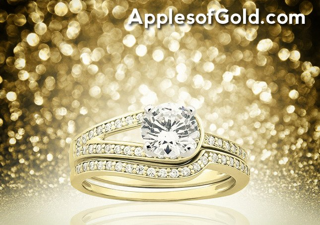 06-01-2013 Love's Embrace 1 Carat Bridal Ring Set