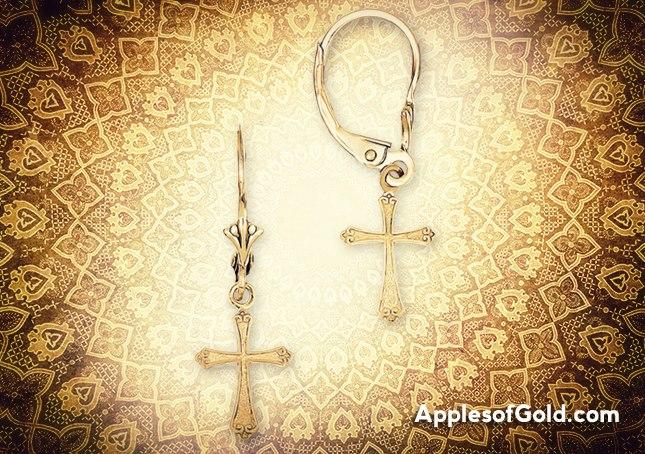 06-04-2013 gold cross earrings