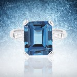 Four Blue Gemstone Rings for the Bride's Right Hand