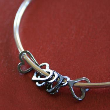 06-12-2013 Besos Heart Bangle XO in Sterling Silver