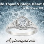 White Topaz Heart Rings: Expressions of Affection at Prices You'll Love!