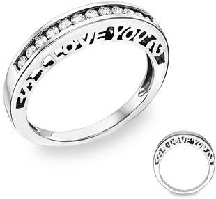 Diamond Wedding Rings with Surprising Side Views ApplesofGoldcom