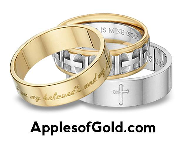 bible verse wedding bands dual symbolism - Christian Wedding Rings