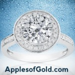White Topaz and Diamond Engagement Rings: A Double Dose of Colorless Dazzle