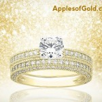 Yellow Gold Bridal Ring Sets With a Touch of Tradition