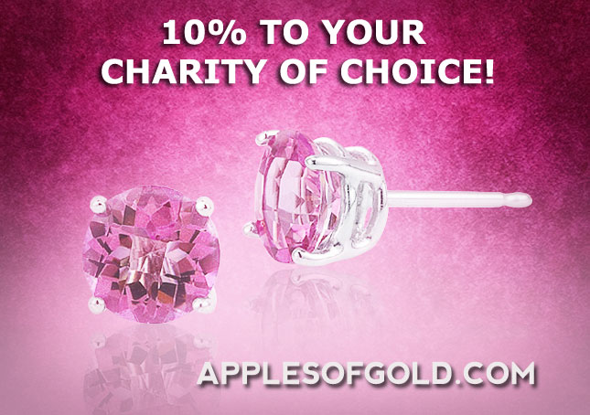 pink jewelry, breast cancer awareness, charity