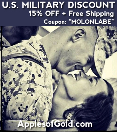 15% Military discount wedding jewelry