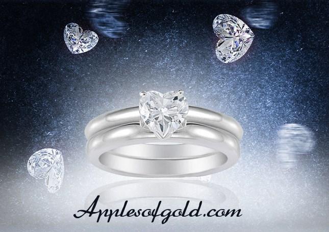 Heart Wedding Rings and Bridal Sets