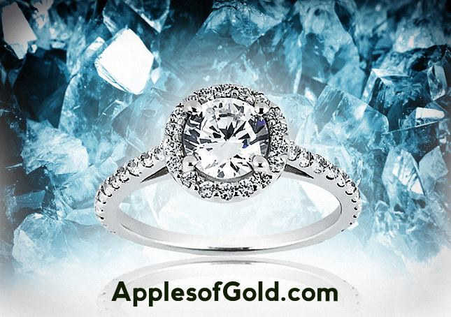 04-13-2014 Halo Diamond Engagement Ring