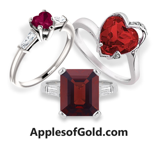 garnet rings collection