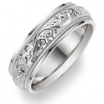 Precious Metals in Wedding Bands: White Gold Rings