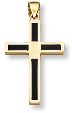 Onyx cross pendant