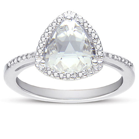 white topaz trillion-cut and diamond ring in sterling silver