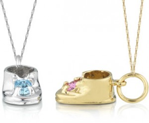 Personalized Baby Shoe Pendants