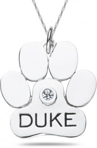 Personalized Paw Pendant