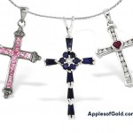 Feminine Gemstone Cross Necklaces for Women