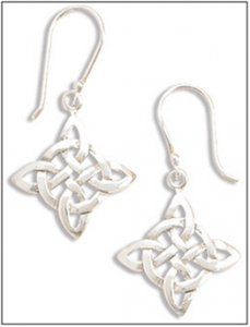 Celtic Knot work Sterling Silver Earrings