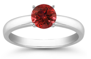 Glow in a Ruby Gemstone Solitaire Ring