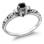 Black is the New White in Diamond Rings