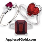 Fiery Garnets Gemstone Jewelry from ApplesofGold.com