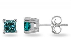 1-4-carat-blue-diamond-princess-cut-stud-earrings-XEP0025B1BEC