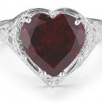 Garnet Hearts: Rings That Say I Love You!