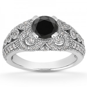 vintage-style-black-diamond-ring-ENR8464BLKC