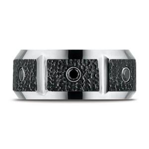 cobalt-chrome-blackened-micro-hammer-diamond-band-ring-for-men-CF610991CCC