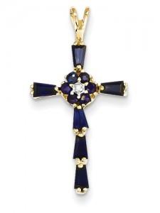 sapphire-flower-cross-pendant-XR866C