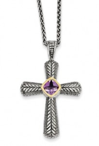 silver-gold-amethyst-cross-necklace-QTC243C