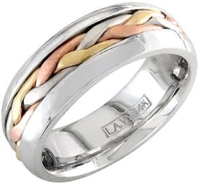 TriColored Wedding Rings Triple Crown Winners ApplesofGoldcom