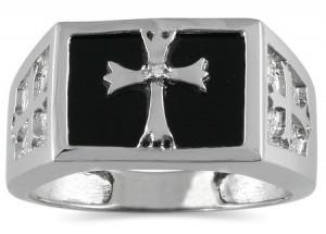 onyx-and-diamond-cross-ring-for-men-10k-white-gold-MRG12554OXC