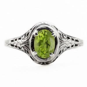 oval-cut-peridot-art-nouveau-style-peridot-ring-OV037PDC