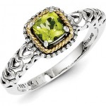 Silver Peridot Rings: Green and Silver Fashion