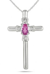 oval-shaped-pink-sapphire-and-diamond-cross-pendant-in-10k-white-gold-PRP4655PSC