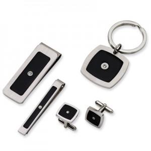 stainless-steel-black-enamel-and-cz-set-QG-SRSET4C