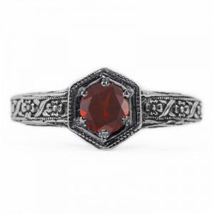 floral-design-vintage-style-garnet-ring-R063GTC