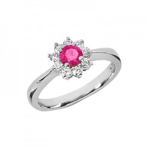 diamond-halo-ring-with-pink-topaz-center-stone-14k-white-gold-US-CSR208WPTC